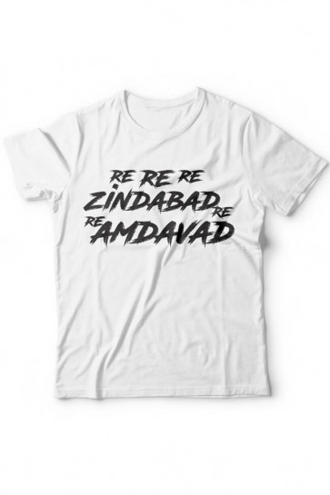 Re Re Re Amdavad Re - Wrong side Raju Theme Cotton Tshirt From Deshidukan Buy online