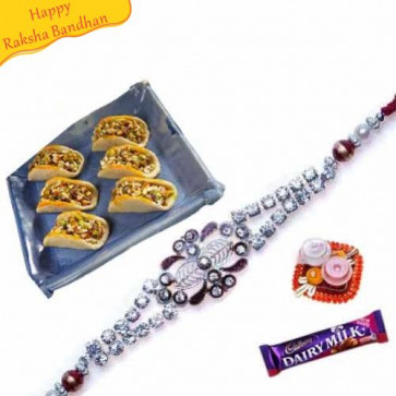 Buy Dryfruit Slice With rakhi Online on Rakshabandhan with India, worldwide delivery options