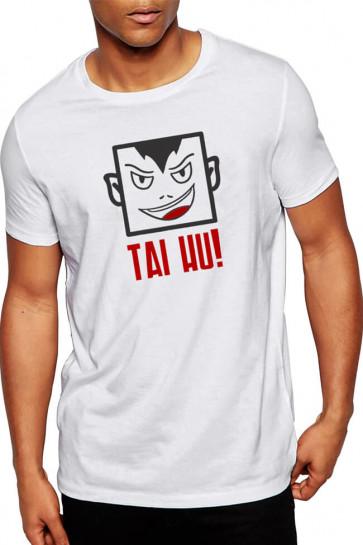 Tai Hu - Gujarati Funky Cotton Tshirt  white