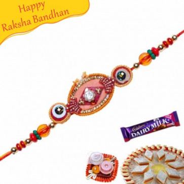 Buy Colourfull Beads Mauli Rakhi Online on Rakshabandhan with India, worldwide delivery options