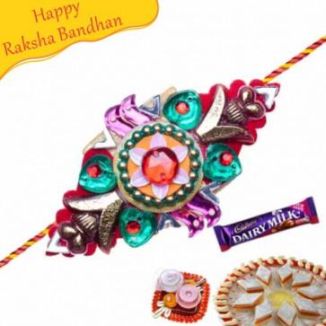 Buy Flower Shaped Mauli Rakhi Online on Rakshabandhan with India, worldwide delivery options