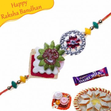 Buy Om Diamond Rakhi Online on Rakshabandhan with India, worldwide delivery options