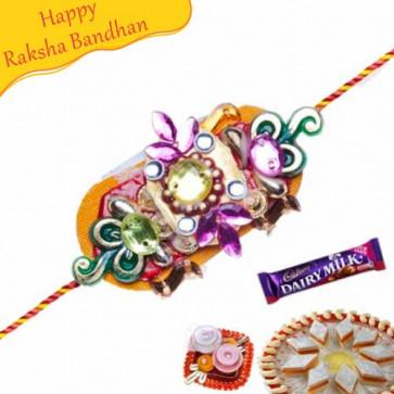 Buy Metal Hoops And Beads Rakhi Online on Rakshabandhan with India, worldwide delivery options