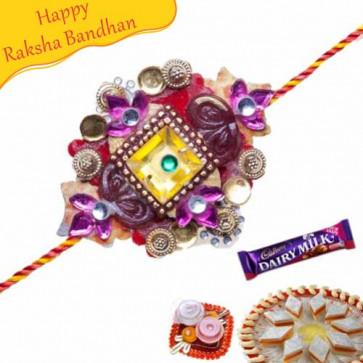 Buy THREAD KUNDAN RAKHI Online on Rakshabandhan with India, worldwide delivery options
