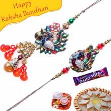 Peacock Beads Bhaiya Bhabhi Rakhi