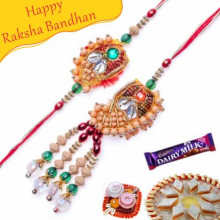 Buy Wooden Beads Bhaiya Bhabhi Rakhi Online on Rakshabandhan with India, worldwide delivery options