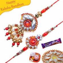 Gold And Pearl Bhaiya Bhabhi Rakhi