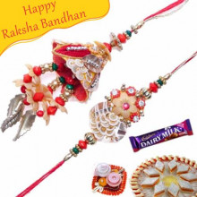 Diamond, Beads Bhaiya Bhabhi Rakhi