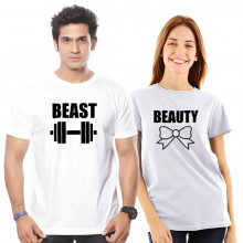Beauty - Beast  Couple Tshirt Combo