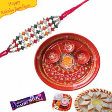 Buy Colors Of Traditions Rakhi Hamper from Dhoomkharidi and send them to Gujarat, India, worldwide with best delivery options