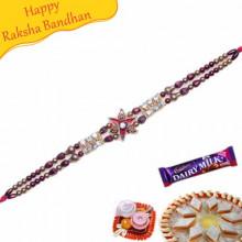 American Diamond Om Bracelet Rakhi