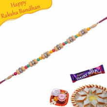 Beads Diamond Thread Bracelet Rakhi