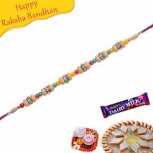 Beads Diamond Thread Bracelet Rakhi