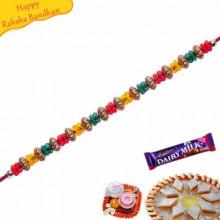 Multicolor Beads Pearl Rakhi