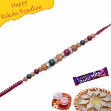 KundanAmerican Diamond Beads Pearl Rakhi