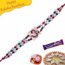 Om Beads Bracelet Rakhi
