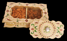 Chocolate Golden colored Minakari Decorative Dryfruit cum Mukhwas Box