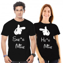 He Is Mine, She Is Mine - Couple Tshirt Combo