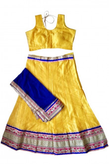 Exclusive Yellow Cotton Silk Navratri Chaniya Choli Buy Online India