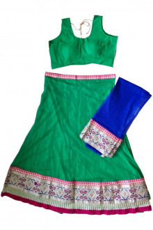 Green Navratri Chaniya Choli Buy Online for India, US, UK, Canada