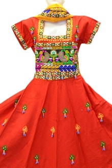 Attractive red Colour Cotton Chaniya Choli In Sober Look ( for Navratri 2017 buy online