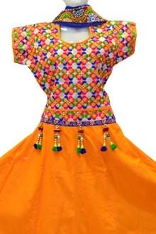 Classy Orange Colour Chaniya Choli for navratri 2017 buy online