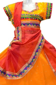 Splendid Golden yellow Colour  Chaniya Choli for navratri 2017 buy online