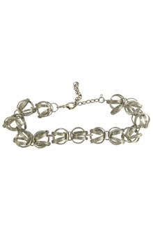 Silver ring shaped Bajubandh