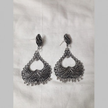 Oxodized Earings with Ghooghri