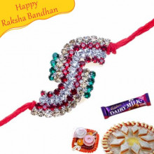 Antique Colourfull Diamond Rakhi