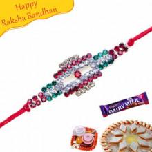 Multicolour American Diamond Rakhi