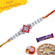 Crystal American Diamond Rakhi