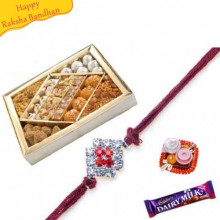 Mithai and namkin Mix with rakhi
