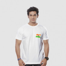 Round Neck Tshirt With Indian Flag