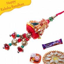 Buy Zarodhi Sandalwood Rakhi Online on Rakshabandhan with India, worldwide delivery options
