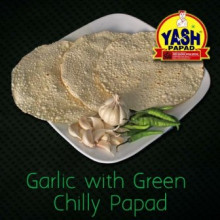 Garlic with Green Chily Papad  5 Kg Buy online best Gujarati Farsan