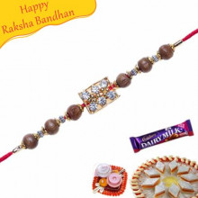 Wooden Beads Jewelled Rakhi