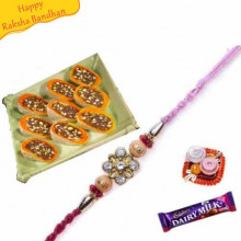 Dryfruit Slice With rakhi