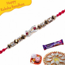 Crystal Beads, Ad Jewelled Rakhi
