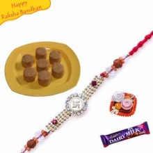 Mathura Penda with rakhi