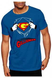 gujjuman blue tshirt cotton