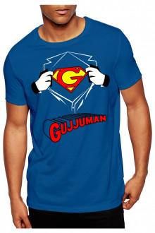gujjuman blue tshirt cotton