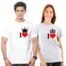 I Love-Couple - Cotton Tshirt  From Deshidukan Buy online in Gujarat, Ahmedabad, Rajkot, Surat, Vadodara
