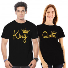 King Queen - Couple Tshirt Combo Offer(Tshirts)