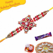 Buy HEAVY CRYSTAL KUNDAN RAKHI Online on Rakshabandhan with India, worldwide delivery options