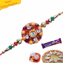 MULTICOLOUR BEADS ZARDOSHI RAKHI