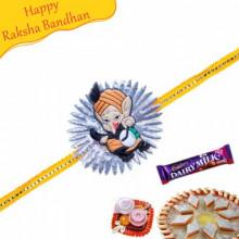 Bal Ganesha Flower Design Kids Rakhi