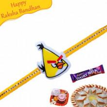 Yellow Angry Bird Kids Rakhi