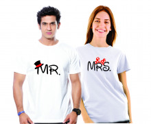Mr. - Mrs. Couple Cotton Tshirt Combo Buy Online