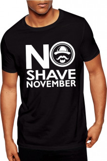No Shave November Tshirt - Buy Online India with Free Shipping Black